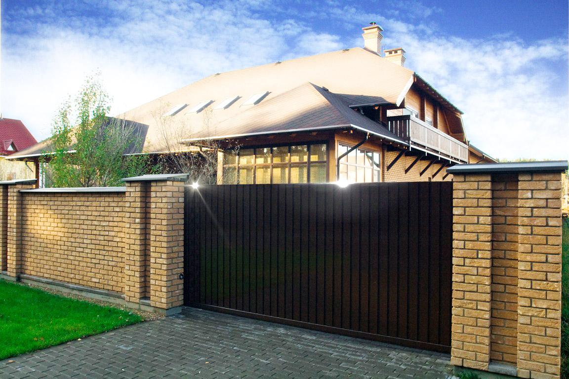 Въездные ворота в частный дом своими руками